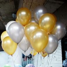 헬륨풍선-골드,실버