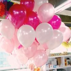 헬륨풍선-핑크톤