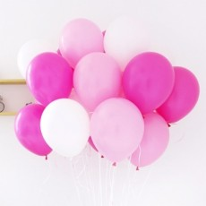 헬륨풍선-핑크+핫핑크