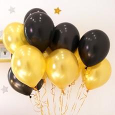 헬륨풍선-골드,블랙