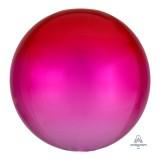 옹브레 40cm 레드&핑크